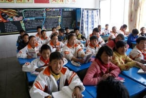 Secondary school students in Yanyuan County.